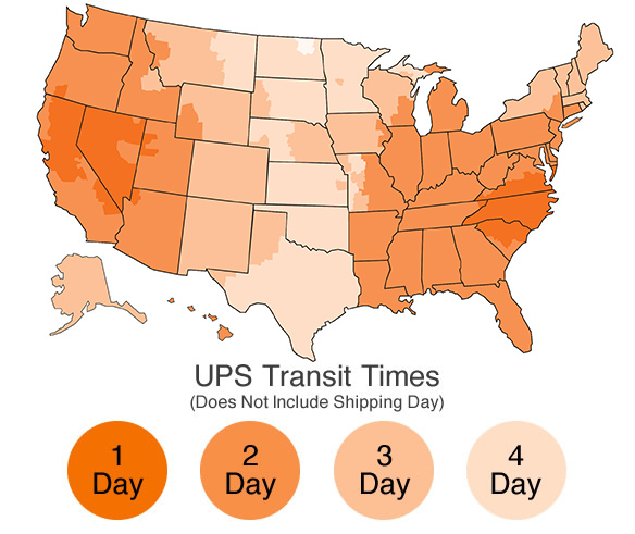How Long Will UPS Shipping Take CandleScience Support - Ups shipping time map